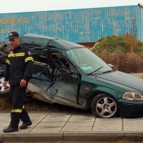 Σοβαρότατο τροχαίο δυστύχημα  στην είσοδο της Βέροιας