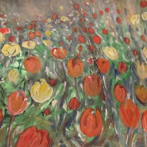 Συνεχίζεται η έκθεση ζωγραφικής της Βασιλικής Σιδηροπούλου - Καραμήτσου στο καφέ McOza στη Βέροια