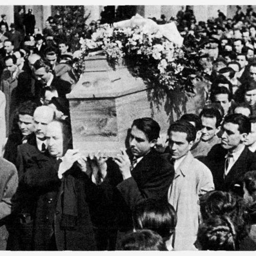 """Η Κηδεία του Κωστή Παλαμά – Άγγελος Σικελιανός: """"Ηχήστε οι Σάλπιγγες"""""""