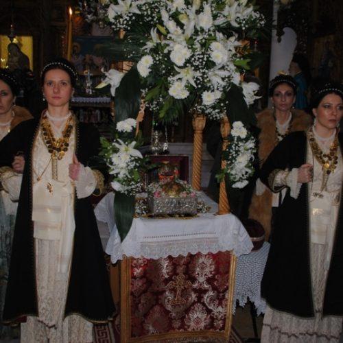 Έγινε χθες στην Πατρίδα Βέροιας η υποδοχή τηςΤίμιας Κάρας του Οσίου Δαβίδ