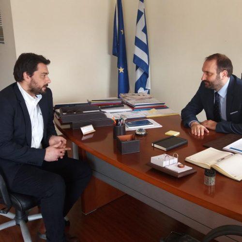 Συνάντηση του Τάσου Μπαρτζώκα με τον πρόεδρου Οικονομικού Επιμελητηρίου Ελλάδος
