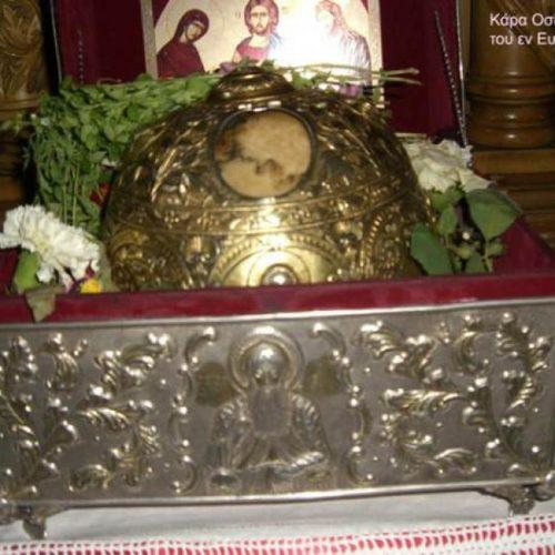 Υποδοχή Τίμιας Κάρας Οσίου Δαβίδ του εν Ευβοία, σήμερα 1 Φεβρουαρίου στην Πατρίδα  Ημαθίας