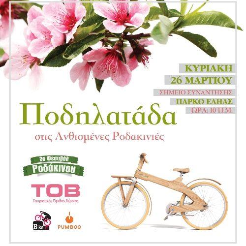 Ποδηλατάδα στις Ανθισμένες Ροδακινιές - Συνεχίζεται ο διαγωνισμός φωτογραφίας
