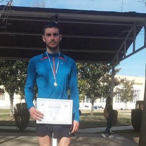 """Ο  Γιώργος Σταμούλης 4ος στα 5000 μ. του """"Μέγα Αλέξανδρου"""""""