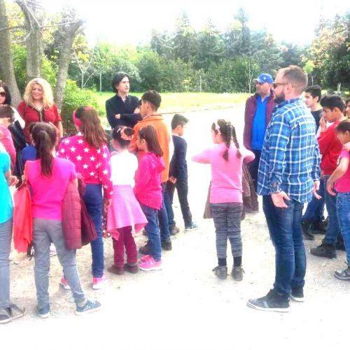 Διδακτική επίσκεψη των προσφυγόπουλων στο Μουσείο Βεργίνας
