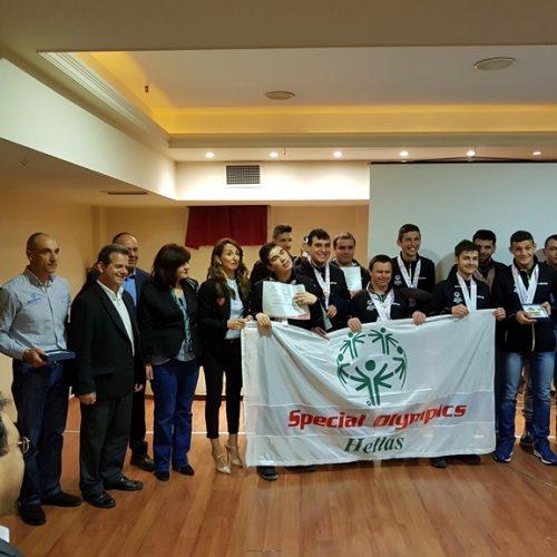 Ο Γ.Γ Αθλητισμού σε εκδήλωση του Χιονοδρομικού Κέντρου Σελίου βράβευσε  αθλητές των special olympics