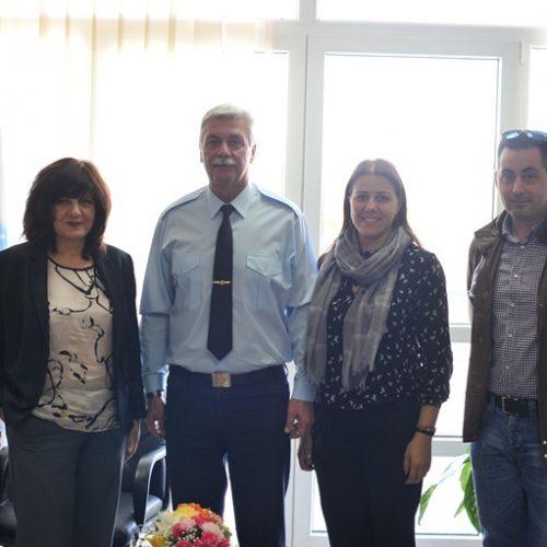 Τη Σχολή Μετεκπαίδευσης  της  Ελληνικής Αστυνομίας στη Βέροια  επισκέφτηκε η βουλευτής Φρόσω  Καρασαρλίδου