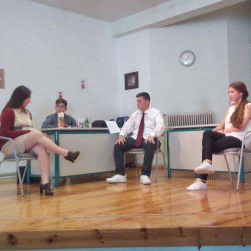 """""""Ο Αχόρταγος"""" του Δημήτρη Ψαθά  από την θεατρική ομάδα του  6ου Γυμνασίου Βέροιας"""