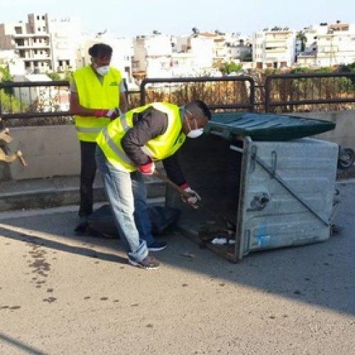 Ξεκίνησε η πλύση – απολύμανση των κάδων απορριμμάτων στο Δήμο Βέροιας