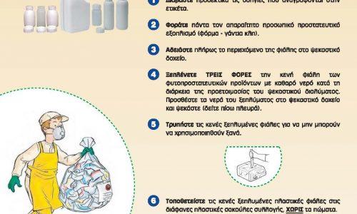Ειδικοί κάδοι για τις  συσκευασίες των φυτοπροστατευτικών προϊόντων