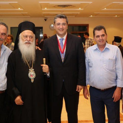Με το χρυσό Σταυρό του Αποστόλου Παύλου τιμήθηκε ο Περιφερειάρχης Κ. Μακεδονίας από τον Μητροπολίτη  Παντελεήμονα