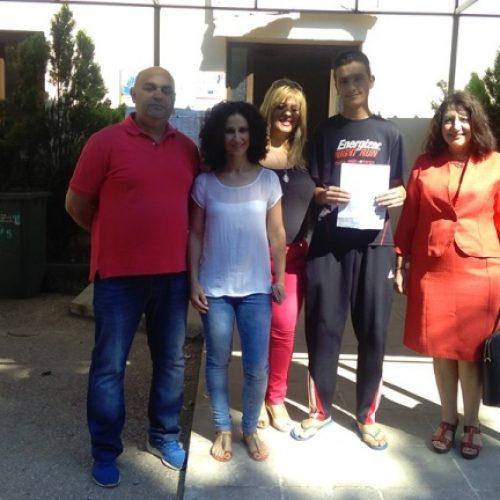 Το πρώτο πιστοποιητικό ολοκλήρωσης φοίτησης σε προσφυγόπουλο στην Ημαθία