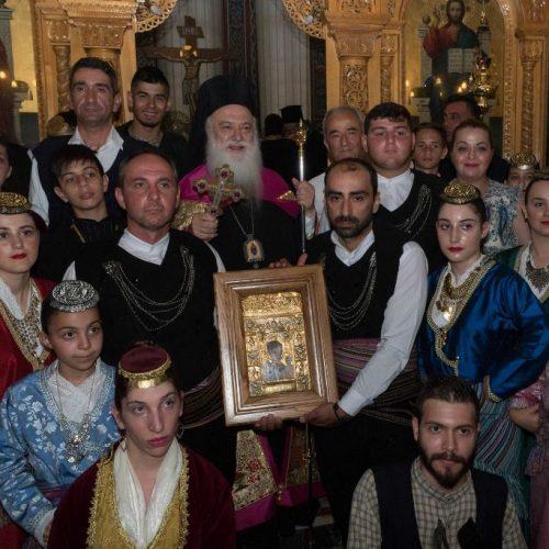 Με μεγαλόπρεπεια και τιμές υποδέχτηκε η Εύξεινος Λέσχη Χαρίεσσας  αντίγραφο της Εικόνας της Παναγίας Σουμελά