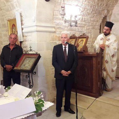 Ο Γιώργος Ουρσουζίδης στο ετήσιο μνημόσυνο για τα τροχαία θύματα στα Χανιά