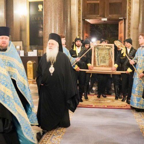 Η εικόνα της Παναγίας Σουμελά  στην Αγία Πετρούπολη