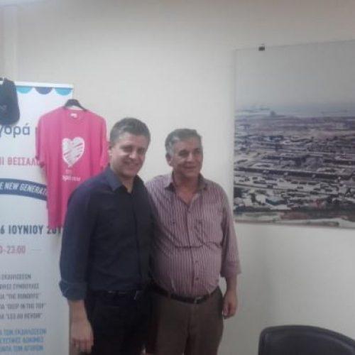 Ο Αντιπεριφερειάρχης Ανάπτυξης και Περιβάλλοντος  στην Κεντρική Αγορά Θεσσαλονίκης