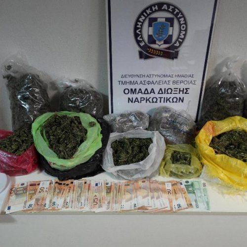 Συνελήφθησαν 3 και κατασχέθηκαν πάνω από 5 κιλά κάνναβης σε στοχευμένες δράσεις του Τ. Α. Βέροιας