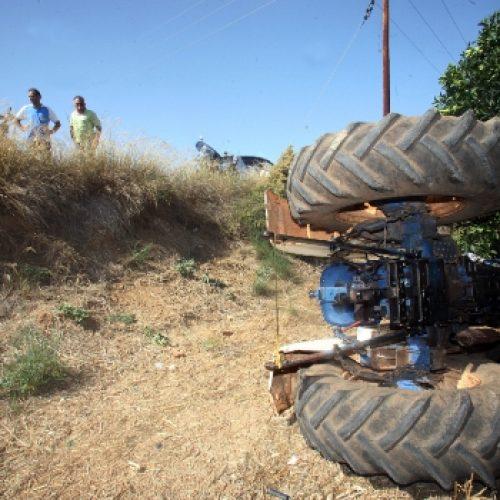Θανατηφόρο ατύχημα με 80χρονο οδηγό τρακτέρ