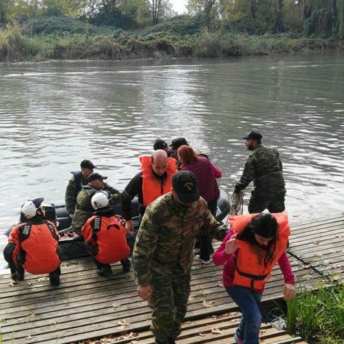 """""""Τα Παιδιά της Άνοιξης"""" στον ποταμό Λουδία σε δράση  ναυταθλητισμού"""