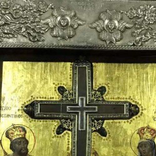 Υποδοχή Τιμίου Σταυρού από τα Ιεροσόλυμα  στον Ιερό Ναό Αγίου Νεκταρίου Κυμίνων