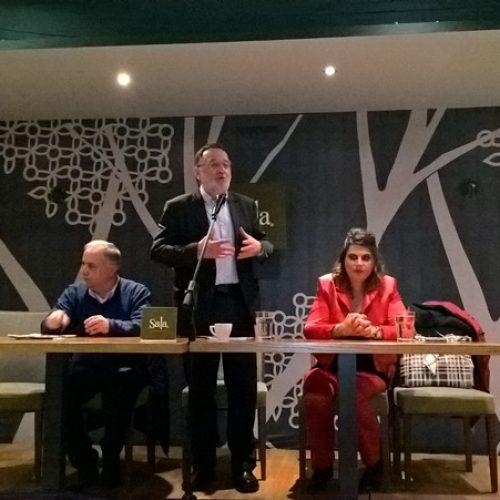 """Ο Π. Λαφαζάνης στη Βέροια: """"Δεν είμαστε ραγιάδες, υπάρχει ελπίδα, η ΛΑΕ έχει πρόταση!"""""""