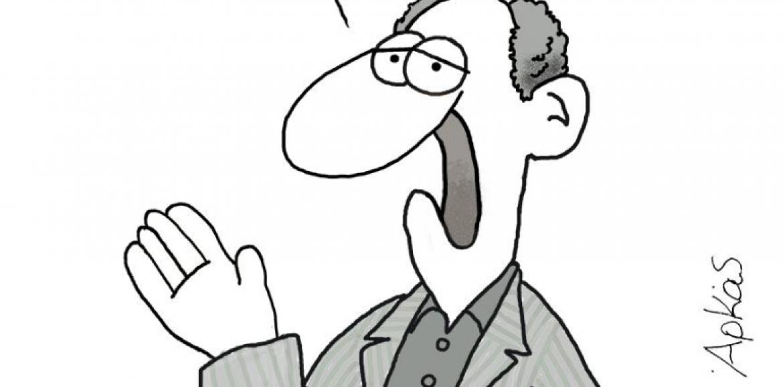 """Οι γελοιογράφοι σχολιάζουν: """"Η παραίτηση υπουργού""""   –  Αρκάς"""