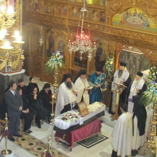 Με πλήθος κόσμου κηδεύτηκε σήμερα η μητέρα του Δήμαρχου Βέροιας, Ελευθερία Βοργιαζίδη