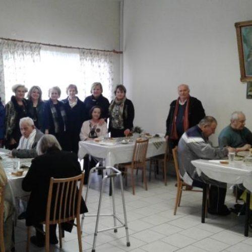Επίσκεψη του  Λυκείου Ελληνίδων Βέροιας στο Σωσσίδειο Γηροκομείο