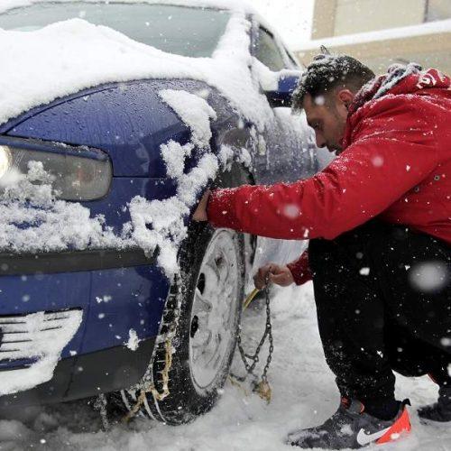 Η κατάσταση στο οδικό δίκτυο της   Κ. Μακεδονίας  εξαιτίας της χιονόπτωσης και του παγετού