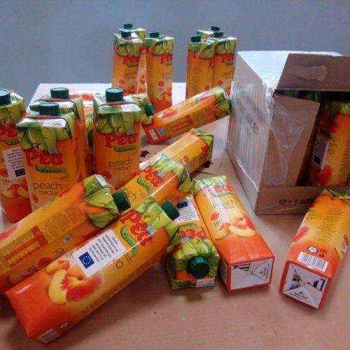 Διανομή χυμών από την Π.Ε. Ημαθίας, στους δικαιούχους του ΤΕΒΑ,  Δευτέρα 26 Φεβρουαρίου