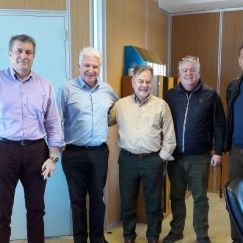 """Πραγματοποιήθηκε συνάντηση   του Προέδρου ΟΠΕΚΕΠΕ   με εκπροσώπους ομάδας   παραγωγών """"ΕΡΜΗΣ"""" της Ημαθίας"""
