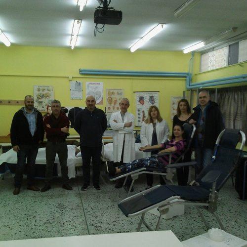 Εθελοντική αιμοδοσία  στο 1ο ΕΠΑΛ Βέροιας