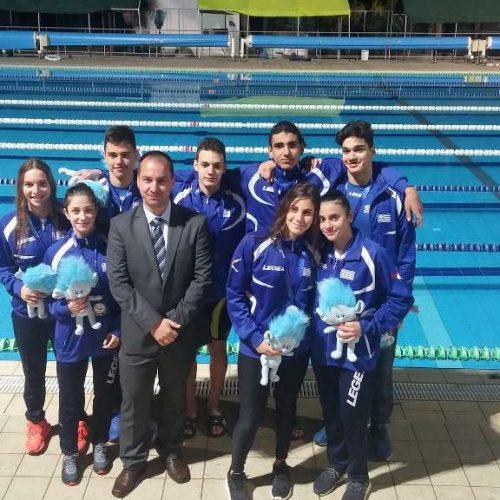 """Αθλήτρια της Κ.Α. """"Νάουσα"""" με την Εθνική σε διεθνές κολυμβητικό meeting"""