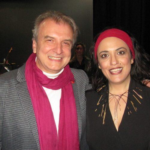 Πέτρος Ρίστας και Ιωάννα Φόρτη.  Με τη λάμψη της επιτυχίας!