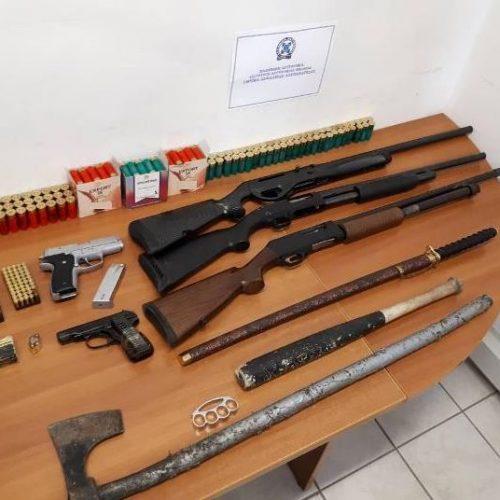 Συνελήφθησαν πατέρας και γιος  στην Αλεξάνδρεια για παράνομη οπλοκατοχή  - Κατασχέθηκε  ποσό πάνω από 250.000 ευρώ!