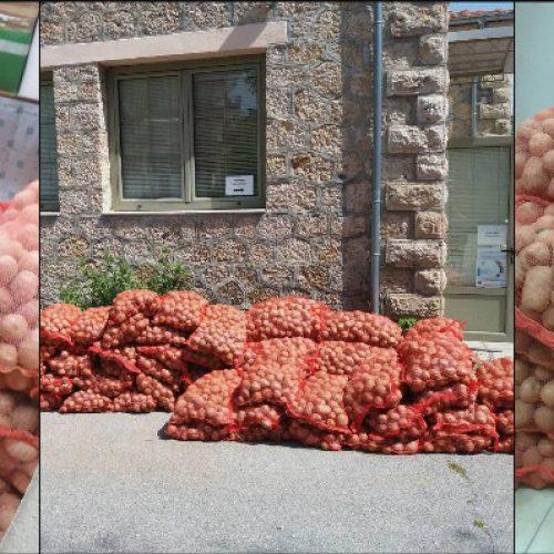 Πατάτες διένειμε το Κοινωνικό παντοπωλείο του Δήμου Βέροιας