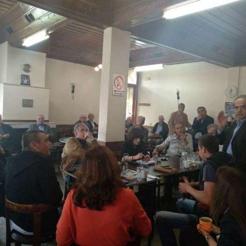 Επίσκεψη των τριών βουλευτών του ΣΥΡΙΖΑ Ημαθίας στα Ριζώματα
