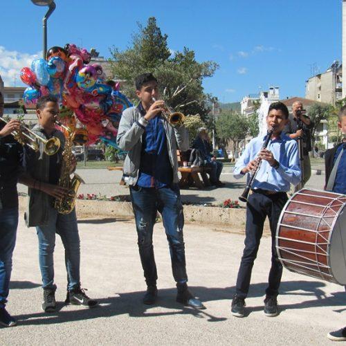 Η μπάντα      νέων από τη Γουμένισσα στο 4o Παιδικό Φεστιβάλ του Λυκείου Ελληνίδων  Βέροιας