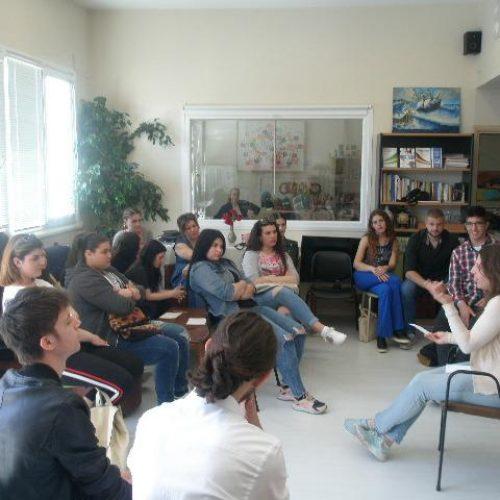 Επίσκεψη του Γ΄ Τμήματος Νοσηλευτικής του ΕΠΑΛ Βέροιας στη Στέγη Δημιουργίας του ΣΟΦΨΥ