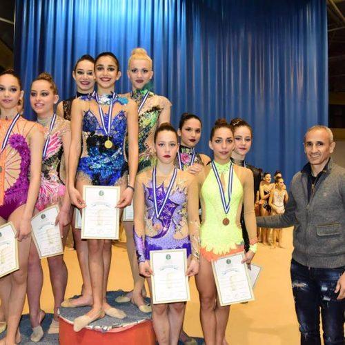 Χρυσό μετάλλιο η Ομάδα Γυναικών της Ρυθμικής του Φιλίππου     -              Χάλκινο μετάλλιο η Πινακούδη στο Πανελλήνιο