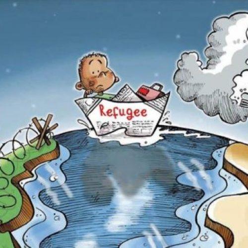 """Οι σκιτσογραφοι σχολιάζουν: """"Η Παγκόσμια Ημέρα προσφύγων"""" - Δημήτρης Γεωργοπάλης"""