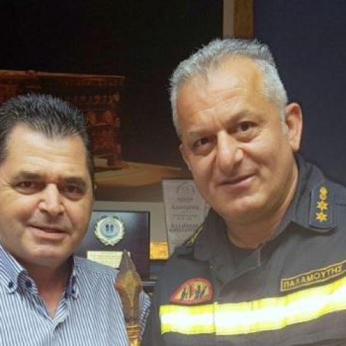 Επίσκεψη του νέου διοικητή της Πυροσβεστικής Υπηρεσίας Βέροιας, στον αντιπεριφερειάρχη Ημαθίας