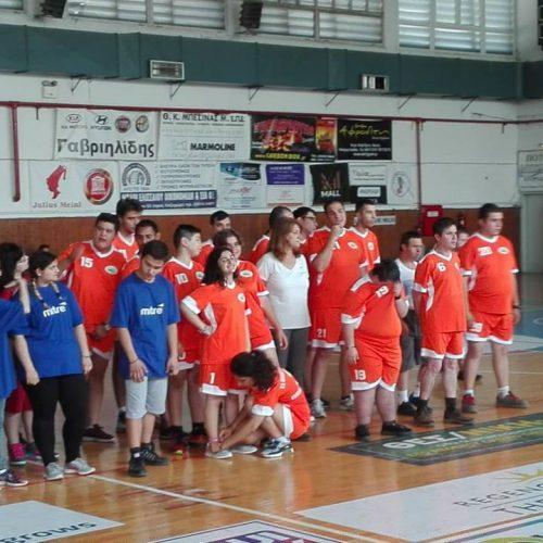 """Το  ΕΕΕΕΚ Αλεξάνδρειας και """"Τα Παιδιά της Άνοιξης"""" σε αγώνες καλαθοσφαίρισης ΣΜΕΑ"""