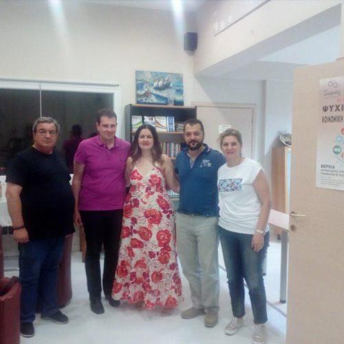 Επίσκεψη στελέχους του Υπουργείου Υγείας στην Βέροια