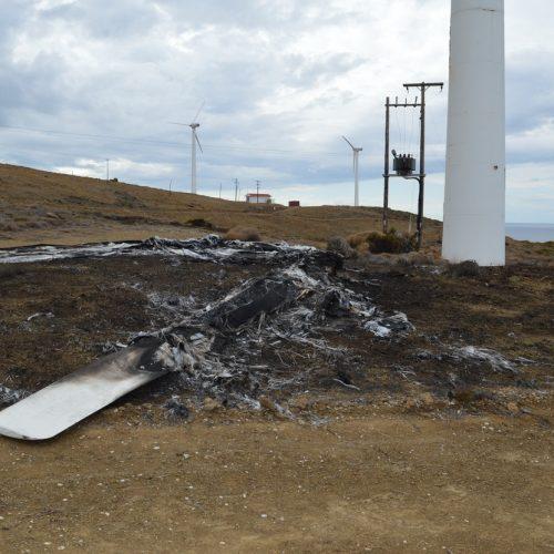 Δίκη κατά ΔΕΗ Αναενώσιμες Α.Ε.  στη Χίο για φωτιά σε ανεμογεννήτρια το  2014 - Είχαν αποτεφρωθεί πάνω    από 5.000 στρέμματα