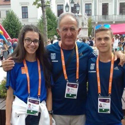 Με επιτυχίες επέστρεψαν από την Ουγγαρία  οι νεαροί πρωταθλητές μας Άνθιμος Κελεπούρης και Ελένη Ιωαννίδου