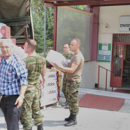 Συγκέντρωση τροφίμων για τους πυρόπληκτους στο Στρατιωτικό Πρατήριο Βέροιας