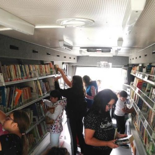 Η Κινητή Βιβλιοθήκη στο Ξηρολίβαδο