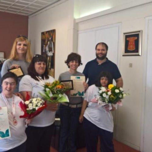 Αγώνες special olympics, βράβευση και ευχαριστίες από τον Δήμο Νάουσας