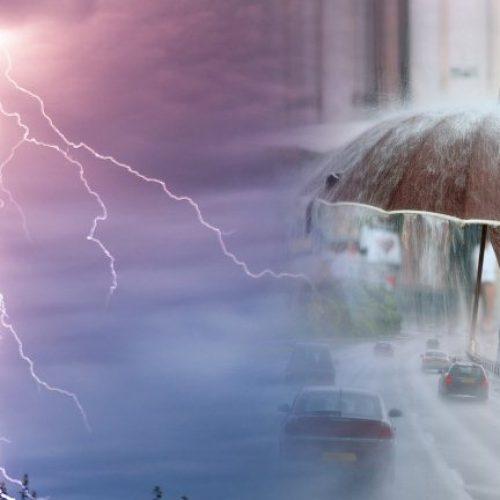 ΕΜΥ: Μεταβολή του καιρού με βροχές, καταιγίδες, ισχυρούς ανέμους και πιθανές χαλαζοπτώσεις